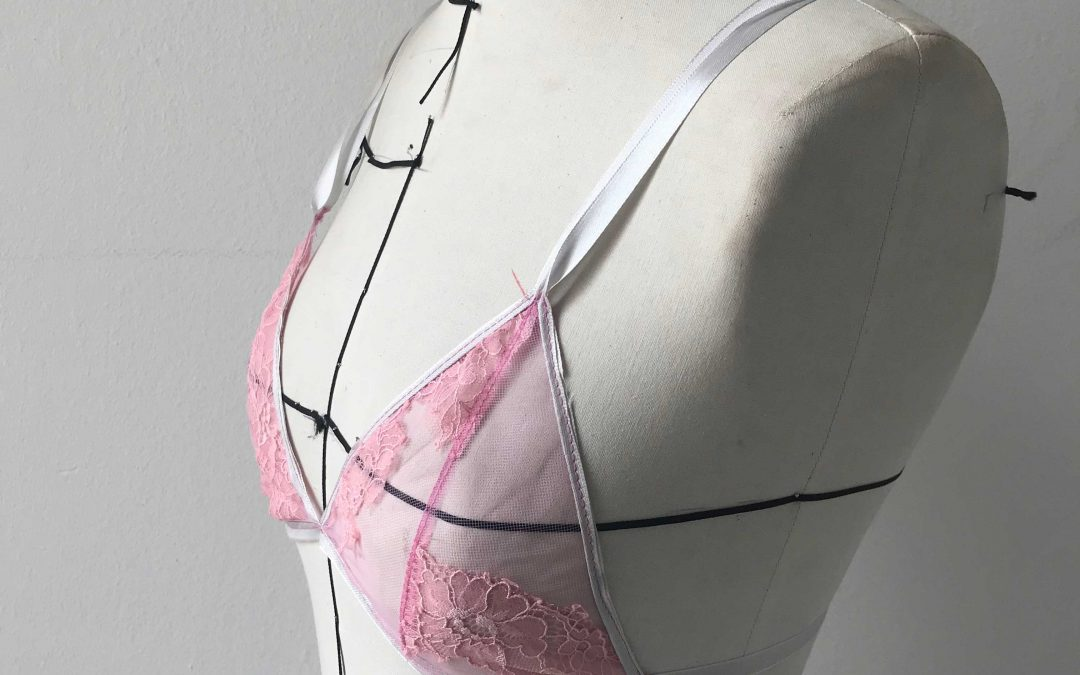 Rose triangle bra